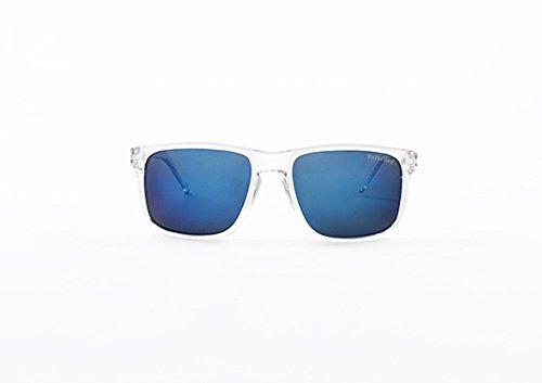 Blue Clear Unisex KYPERS Gafas Coconut Mirror Ice Sol de 57 xXfqqgnTA0