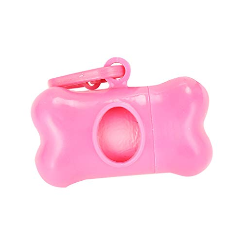 Portable Trash Bag Holder Hanging Kitchen Cupboard Door Back Style Stand Trash Garbage Bags Storage Rack Pet Dog Waste Poop Bag (pink)