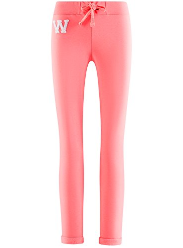 oodji Ultra Mujer Pantalones de Punto Deportivos Rosa (4100N)