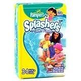 Pampers Splashers Swim Diapers Size 3-4 (16-64lbs) 18 ea, 8 Packs
