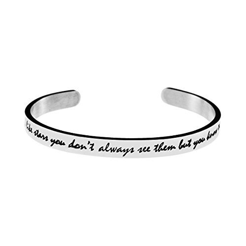 Joycuff Friendship Bracelets for Best Friends Inspirational Bangle Quotes Saying Engraved Stainless Steel Jewellery -