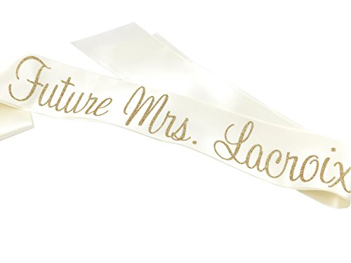 Personalized Future Glitter Mrs Sash (Ivory) by JP Designs