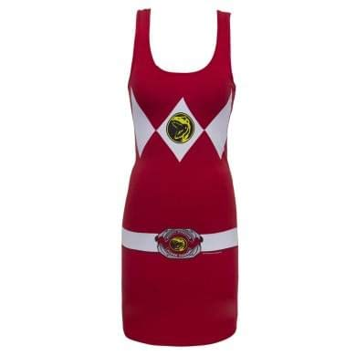 Power Rangers Red Adult Tank Dress Medium -