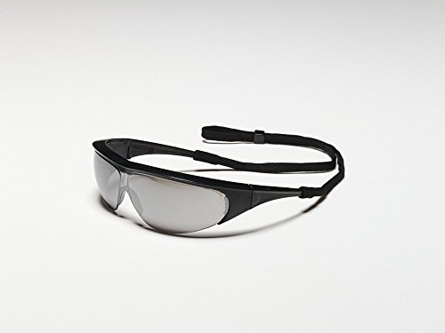 North 11150354 by Honeywell Millennia Safety Glasses With Black Nylon Frame, Silver Mirror Polycarbonate Ultra-dura Anti-Scratch Lens And Breakaway Neck Cord (1/EA)