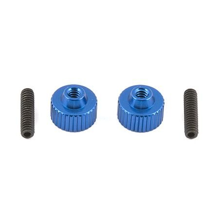 Team Associated 1787 Battery Strap Thumbscrews with Set Screws, Set of 2 ()