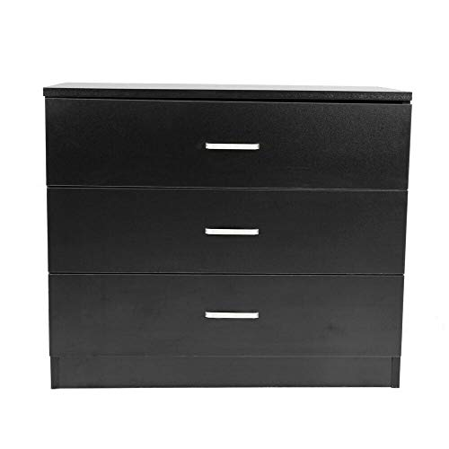 Moon Daughter 3 Storage Drawer Black Shelf Chest Nightstand Cabinet Bedroom Room