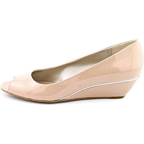 Alfani Womens Cammi Peep Toe Wedge Pumps, Blush, Size 9.5 Uary