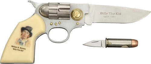Billy the Kid Gun and Bullet Knife Set: Frontier Enthusiast's Collectible -  Sigma Impex, KN-1387BK