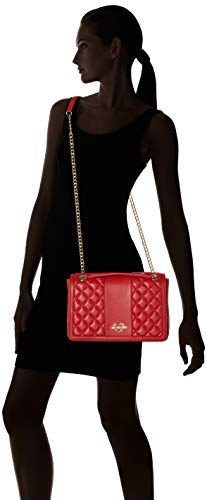 Pu Cartables Nappa Quilted Borsa Love Rouge Moschino Rosso 1qwgH4