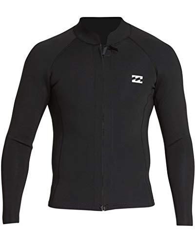 Billabong Men's 2/2 Revolution Pump Front Zip Jacket Black X-Large