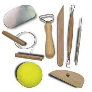 8pc Hobby Arts & Crafts Basic Pottery Clay Molding Tool Set