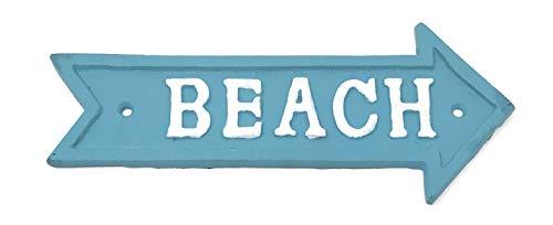 Iron Beach Arrow Wall Plaque, 7.5 Inches Long ()