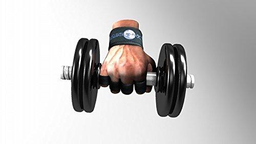 Entrenamiento / Levantamiento de pesas, guantes sin dedos con muñequera, guantes de entrenamiento para gimnasio / para levantamiento de pesas, tallas: S, M, ...