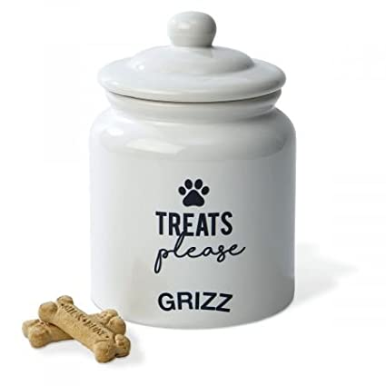 0a36d88d42c5 Amazon.com : Lillian Vernon Personalized Dog Treat Ceramic Jar - 6
