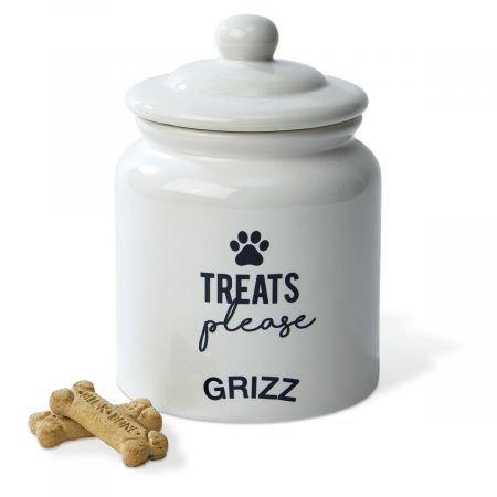 (Lillian Vernon Personalized Dog Treat Ceramic Jar - 6