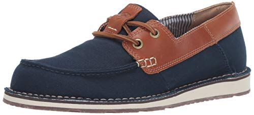 Apparel Castaway - Ariat Women's Women's Cruiser Castaway Moccasin, Navy Canvas/Honeycomb, 10 B US