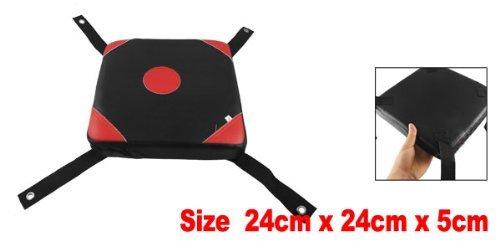 """9,4""""x 9,4"""" X 2Boxing Ecopelle patinata parete rilievo del punzone tasche destinazione Nero Rosso"""