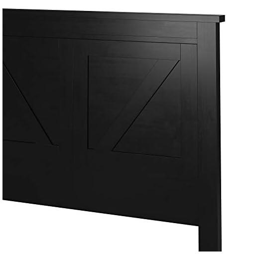 Bedroom Farmhouse Style Wood Panel Headboard in Black – Twin Size farmhouse headboards