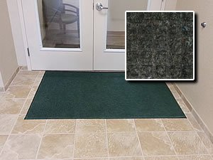 Heavy Duty Entry Door Mat – FloorGuard – 3 x 8 – Charcoal – Commercial Industrial Highly Absorbent Entrance Doormat