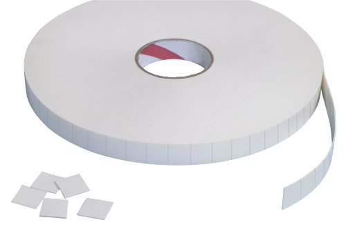 Tape Logic T95212 Pre-cut Double Sided Foam Square, 1/2
