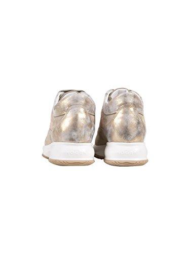 Hogan Damen Hxw00n0s361ifz0qa2 Sneakers Gold Leder