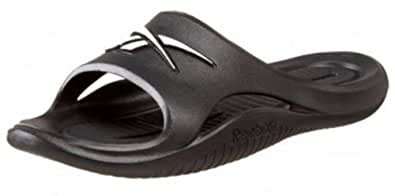 Reebok Men's Kobo V Slipper Slip On Rubber Sandal , Black, Medium Grey and White (12)