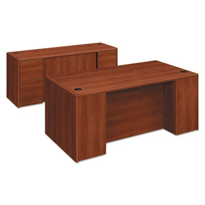 10700 Double Pedestal Desk with Full Pedestals, 72w x 36d x 29 1/2h, Cognac, Sold as 1 Each by Generic