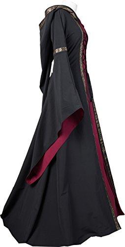 bordeaux Mittelalterkleid Adelheid Schwarz Dornbluth Damen qg5Ifwn6