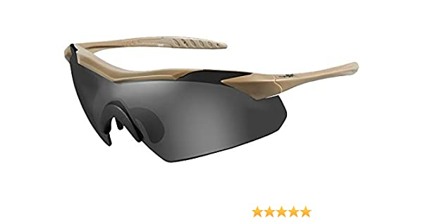 ceb36155c4dd Amazon.com: Wiley-X 3511 Wx Vapor Changeable Sunglasses Clear Tan, Smoke  Grey: Sports & Outdoors