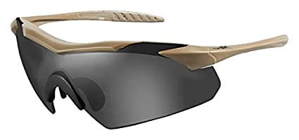 691797dad2 Image Unavailable. Image not available for. Color  Wiley X 3511 Wx Vapor  Changeable Sunglasses Clear Tan