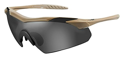 Wiley-X 3511 Wx Vapor Changeable Sunglasses Clear Tan, Smoke Grey