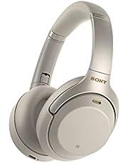 Sony WH-1000XM3 Bluetooth Koptelefoon, (Noise Cancelling, 30 Uur Batterijduur, Ambient Sound Mode, Snellaadfunctie, Microfoon), Zilver
