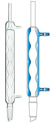 Chemglass CG-1207-03 Series CG-1207 Allihn Condenser, 300 mm Jacket Length, 24/40 Inner Joint, 445 mm Height