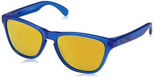 Oakley Youth Boys OJ9006 Frogskins XS Round Sunglasses, Matte Sapphire/24K Iridium, 53 ()