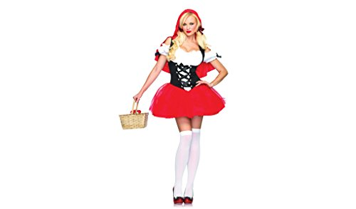 Racy Red Riding Hood Costume - Medium/Large - Dress Size 8-12 (Racy Red Riding Hood Costume)