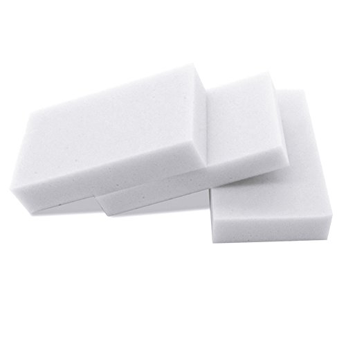 Whitelotous Multi-functional Cleaning Eraser Sponge Melamine Foam Magic Sponge for Cleaning (100, White)
