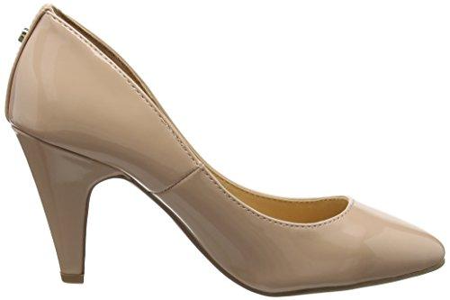 AVA Beige para Zapatos synthetic con Heels Cerrada Punta Nude Head tacón Over de Mujer pqawwR