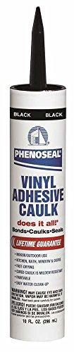Phenoseal Vinyl Adhesive Caulk, Black