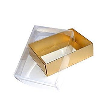Cajas de regalo con tapa 112L x 82 W x 32 horas mm dorado acetato de tapa: Amazon.es: Electrónica