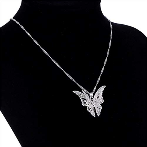 Hollow Pointed Butterfly Necklace Wings Multi-Layer Pendant Jewelry by PG-kisseller (Image #1)