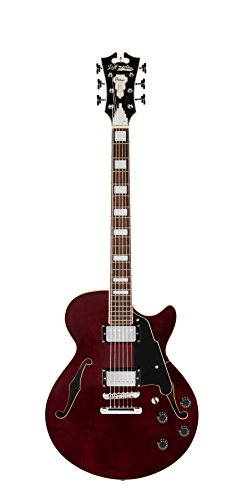 D'Angelico Premier SS Semi-Hollow Electric Guitar w/ Stop-Bar Tailpiece – Trans Wine