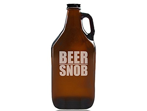 Chloe and Madison ''Beer Snob'' Beer Amber Growler by Chloe and Madison