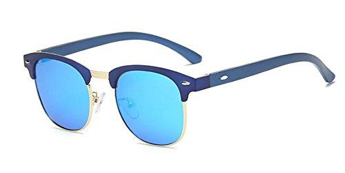 Cercle de du et Steampunk Style Soleil A Métallique Inspirées Glace Tablettes Bleue Femmes Polarisées Retro Rond de en Lunettes Hommes Pour znwx1w