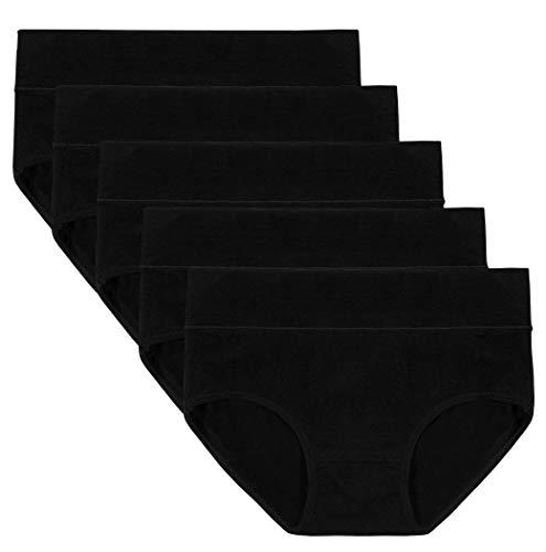 ASIMOON Women's Cotton Underwear, Soft Stretch Briefs Panties Breathable Underwear Women Underpants