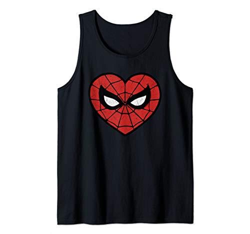 Marvel Spider-Man Heart Shaped Mask Portrait Tank Top