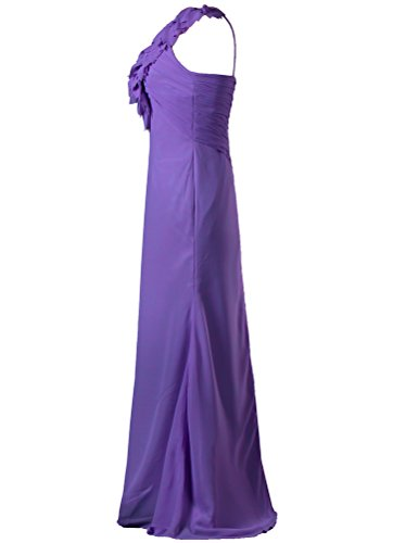 ANTS Flower One Long Bridesmaid Women's Purple Shoulder Gown Dress q4WqAr