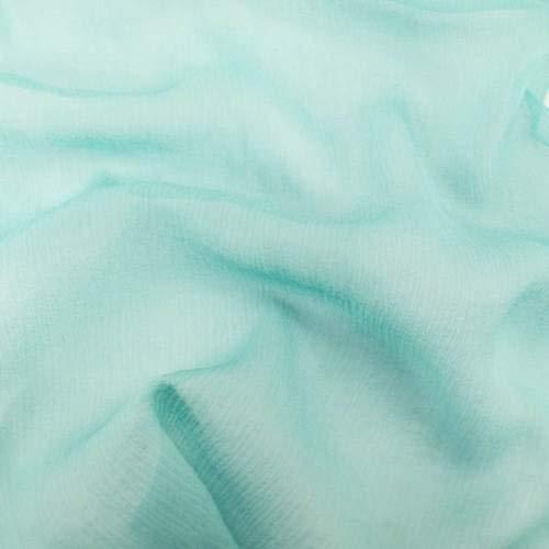 Blue Marine Silk Crinkle Chiffon, Fabric by The Yard