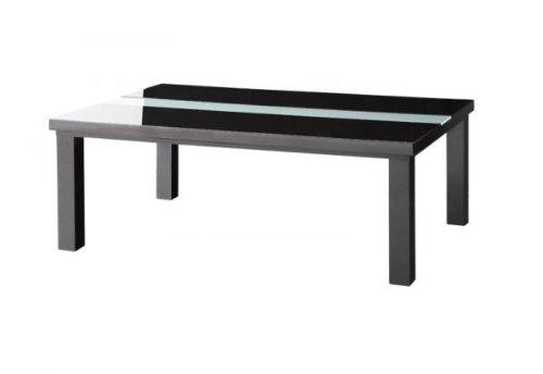 鏡面仕上げ アーバンモダンデザインこたつテーブル【VADIT】バディット/長方形(105×75)/グロスブラック B00A0AHALM