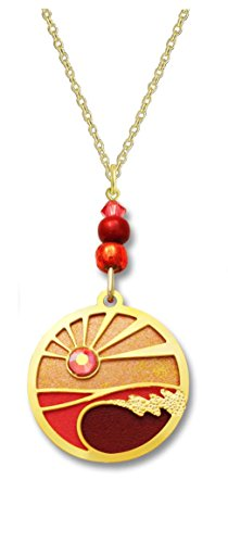 Adajio by Sienna Sky Sunset Over Waves Disk Necklace N7630