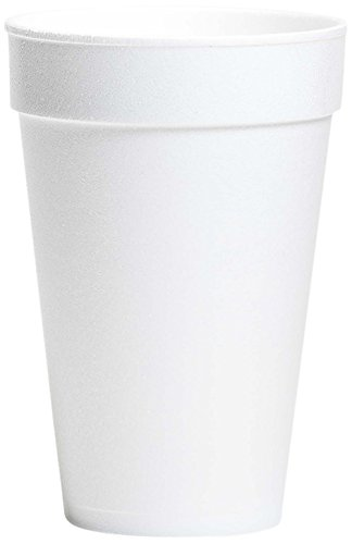 Wincup Foam Cups - Wincup 16C18 Foam Cups, 16 oz, White (20 Sleeves of 25 Cups)